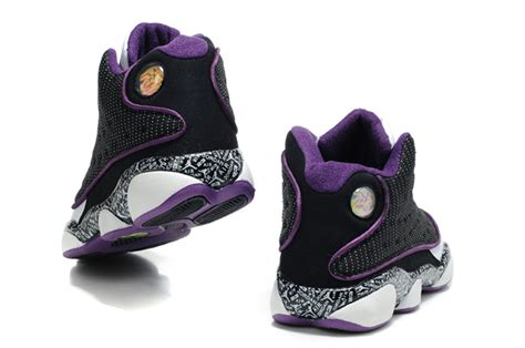 womens air jordan retro 13 purple black