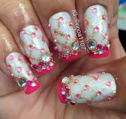Nail art design bling nails