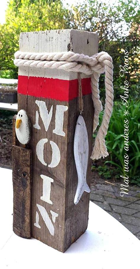 Badezimmer Deko Nordsee by Maritime Bollard Quot Hi Seagull Quot Pebble On Wood Painted