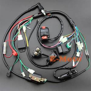 Aliexpress Com   Buy Full Electrics Wiring Harness Coil Cdi Spark Plug Kits For 50cc 70cc 90cc