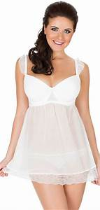 Parfait By Affinitas Honey Molded Cup Babydoll In Ivory