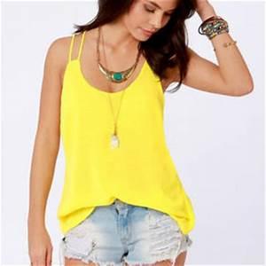 Costa Blanca Flutterby Bright Yellow Tank from Lulu s