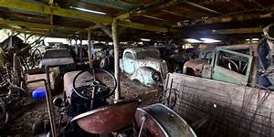Garage Auto Libourne : poitou charentes il cachait un tr sor insoup onn de voitures rarissimes sud ~ Gottalentnigeria.com Avis de Voitures