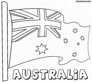 Australian Flag Coloring Page For Kids Bell Rehwoldtcom
