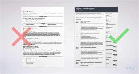 curriculum vitae cv format  examples tips