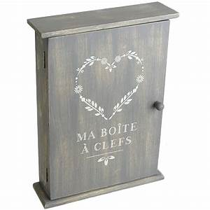 Boite à Clés Originale : boite cl s en bois design vintage coeur ~ Teatrodelosmanantiales.com Idées de Décoration