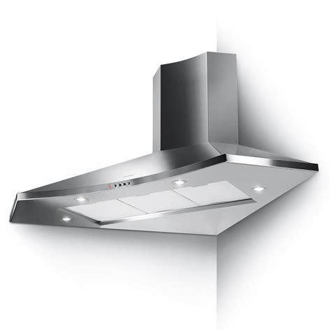 hotte d angle de cuisine hotte d 39 angle solaris eg6 100x100cm 570m3 h inox faber