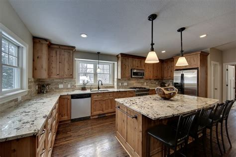 alaska white granite counters alder cabinets drawers for