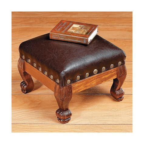 Leather Ottoman Footstool by Footstool In 2019 For The Home Wooden Footstool