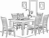 Dining Outline Sketch Illustrazione Chair Vettore Coloring Profilo Isolata Degli Stabilita Icona Raccolta Strumenti Utensili Pranzare Linea Dalla Della Schizzo sketch template