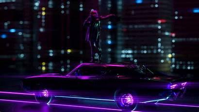 Neon Movement Wallpapers Laptop Background Dark Silhouette