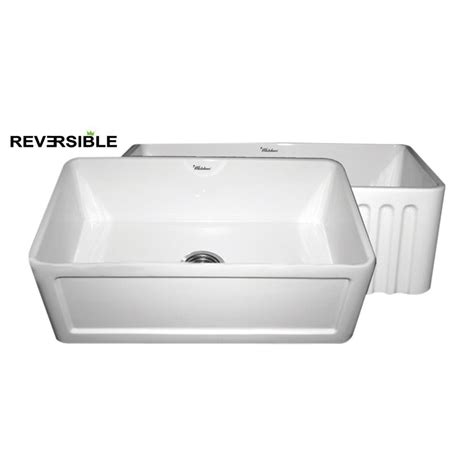 white apron front sink shop whitehaus collection farmhaus 18 in x 30 in white