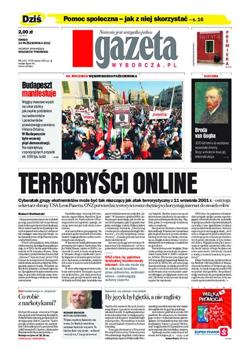 Gazeta Wyborcza - Warszawa - e-wydanie - 249/2012 - NEXTO.PL