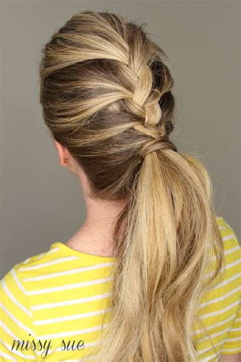 Ponytail Braid Hairstyles by Top 10 Beautiful And Easy Ponytail Hairstyles Top Inspired