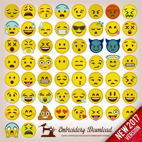 embroidery designs emoticons emoji pack  designs instant