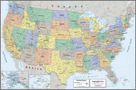 Classic Political USA Map