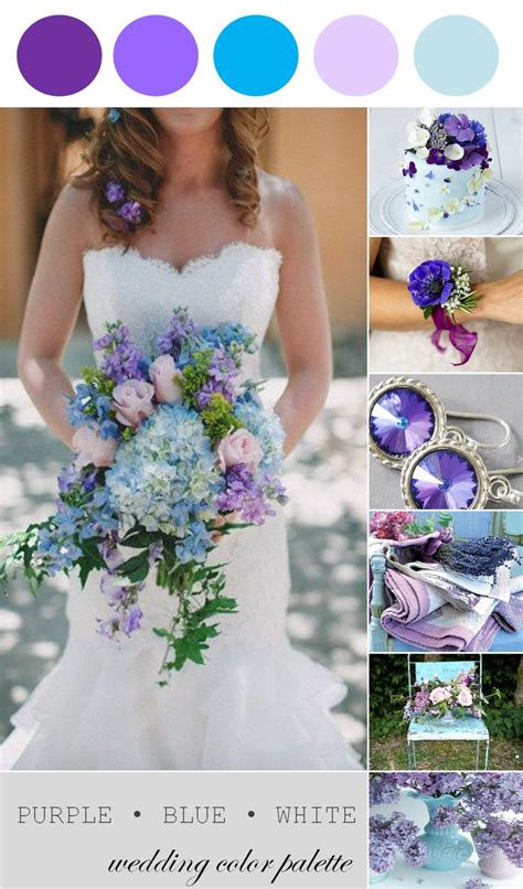 Spring Wedding Inspiration Purple Blue And White