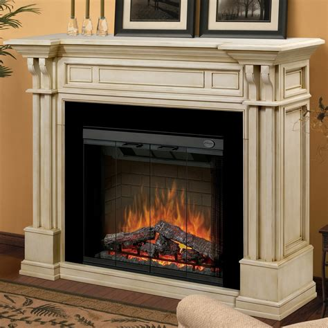 fireplaces with dimplex kendal 63 inch electric fireplace with purifire parchment gds32 1164p