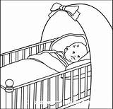 Crib Clipart Drawing Cot Children Clip Outline Cliparts Sleeping Child Graphics Results Getdrawings Library sketch template