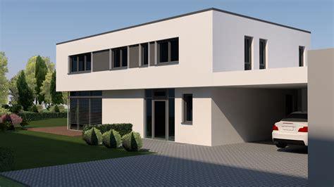 Neubau Modernes Flachdachhaus Mit Carport In Weißenburg