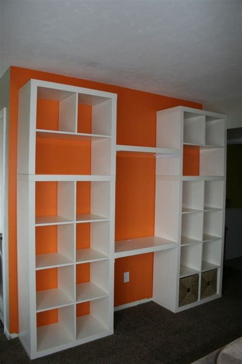 ikea bookshelf hack bookcase built in ikea hack projects for the house pinterest bookcase desk office
