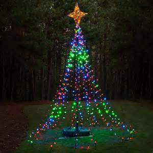 diy ideas make a tree of lights using a basketball pole lights etc