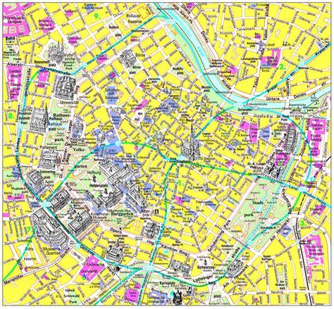 maps  vienna detailed map  vienna  english maps