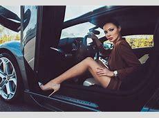 Julia Adasheva Is a Russian Brunette with a Ferrari 458