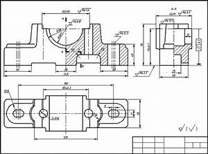 The Bearing Bracket Casting Part Drawing