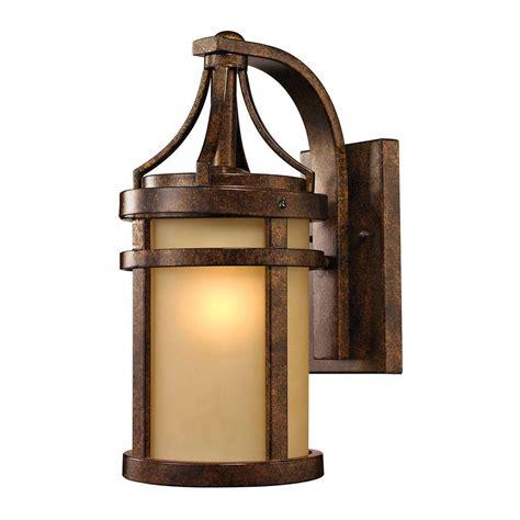 outdoor sconce bronze titan lighting cupertino collection 1 light hazelnut