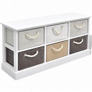 Banc De Rangement Bois : la boutique en ligne vidaxl banc de rangement 6 tiroirs ~ Teatrodelosmanantiales.com Idées de Décoration