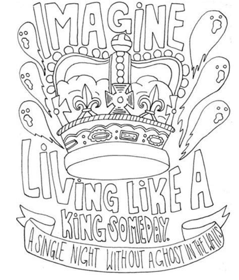 Coloring Lyrics by Lyrics Drawing Band Coloring Pages I In 2019