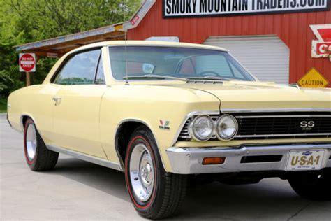 1966 Chevrolet Chevelle Ss 396 Butternut Yellow 396 V8 4