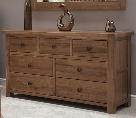 bedroom chest of drawers warwick solid oak bedroom furniture large wide multi chest