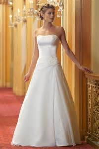 wedding dress with simple a line wedding dress with strapless neckline ipunya