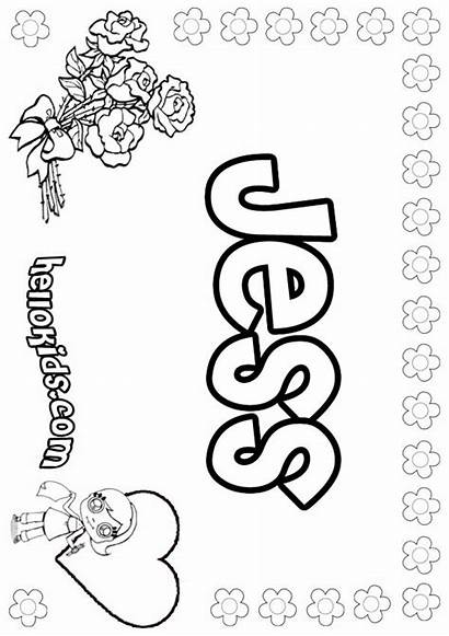 Jess Coloring Pages Names Hellokids