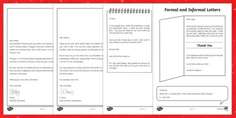 formal  informal christmas letters worksheet activity