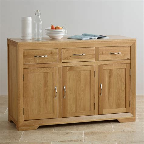 Large Sideboard Oak by Bevel Solid Oak Large Sideboard Oak Furniture Land