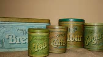 vintage retro kitchen canisters vintage metal kitchen canisters set of 5