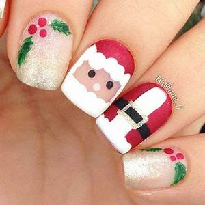 15 Christmas Santa Nail Art Designs & Ideas 2016