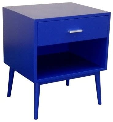 modern table ls target threshold blue one drawer accent table modern
