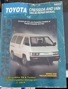 Chilton U0026 39 S Repair Shop Manual For Toyota Cressida And Van