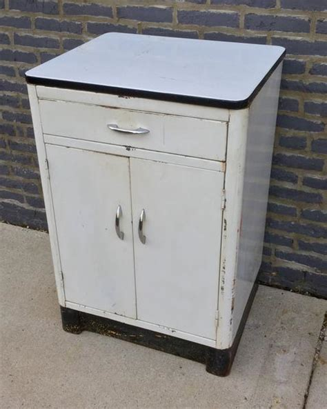 White Metal Cabinet by Vintage White Metal Garden Cabinet Barefoot Dwelling