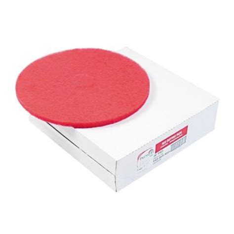 premiere pads 12 in dia standard buffing red floor pad