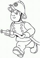 Fireman Clipart Coloring Hose Running Clip Drawing Sheets Kidsplaycolor Graphic sketch template