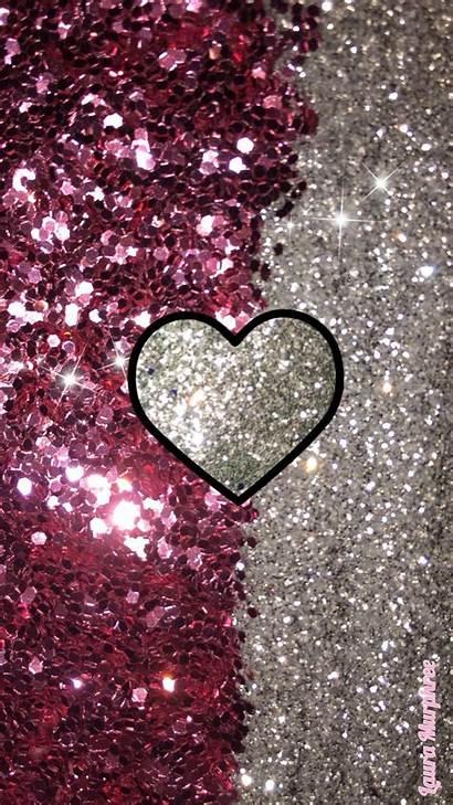 Heart Glitter Background Sparkle Bling Phone Wallpapers
