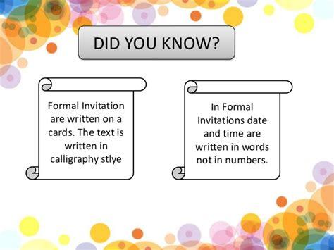 formal  informal invitation kls  kurikulum