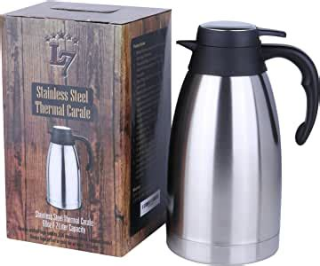It also has a push button that opens the pour. Amazon.com: Thermal coffee carafe, coffee dispenser - Coffee thermos with lid - Coffee Carafes ...