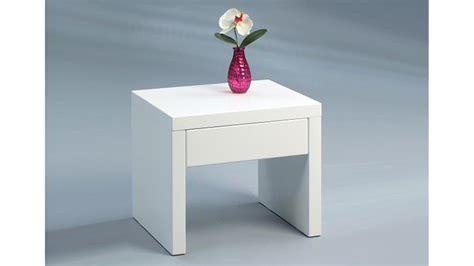 Kleiner Nachttisch Weiß by Beistelltisch Anstelltisch Nachttisch Wei 223 Hochglanz