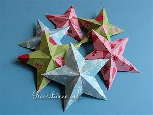 Sterne Aus Papier Falten : weihnachtsbasteln mit papier plastische 5 strahlige sterne ~ Buech-reservation.com Haus und Dekorationen